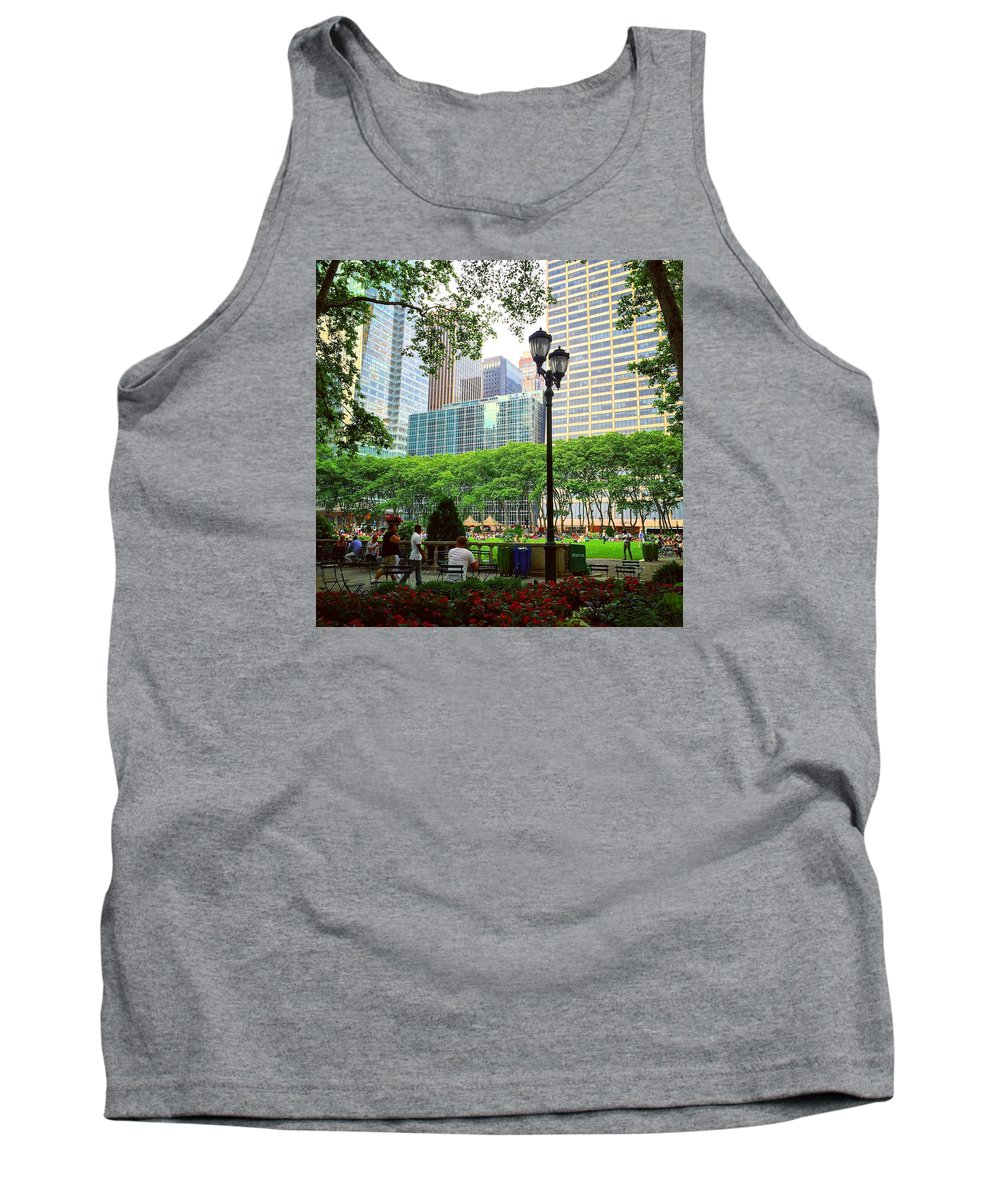 New York Tank Top featuring the photograph Bryant Park by Matt Matthews