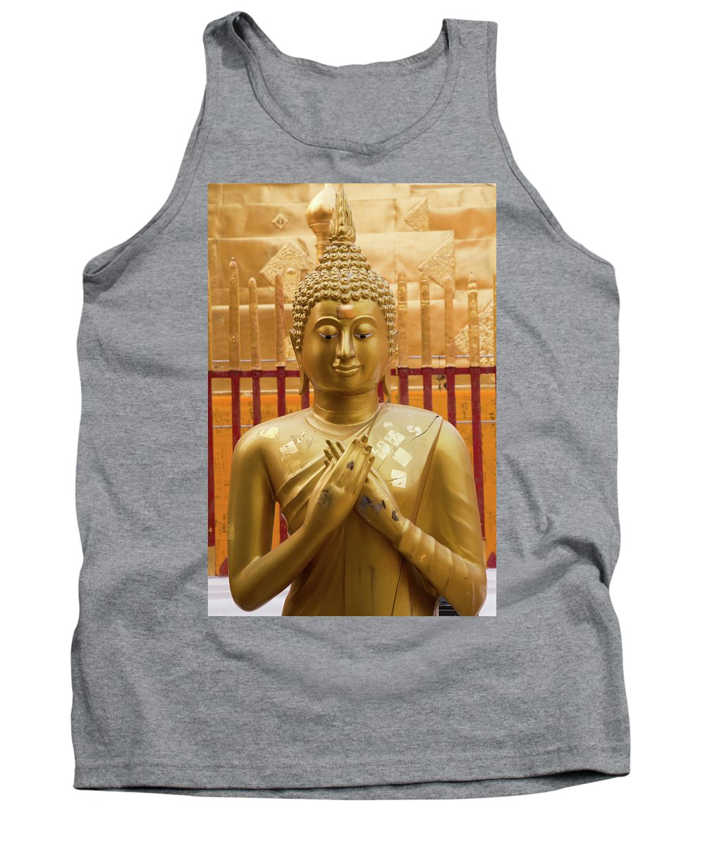 Asia Tank Top featuring the photograph Buddha Statue by Emily M Wilson