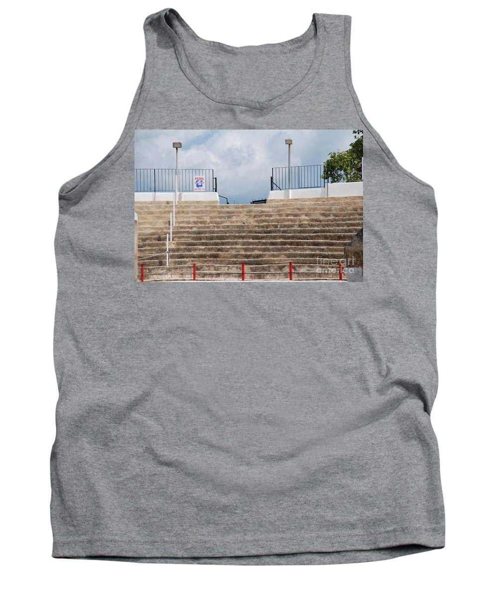 Alcudia Tank Top featuring the photograph Bullring Stands In Majorca by David Fowler