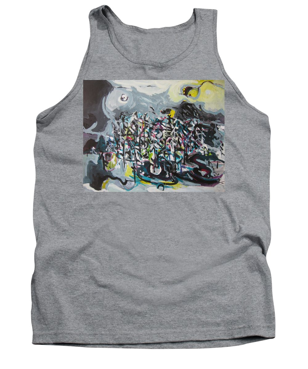 Abstract Paintings Tank Top featuring the painting Bummer Flat11 by Seon-Jeong Kim