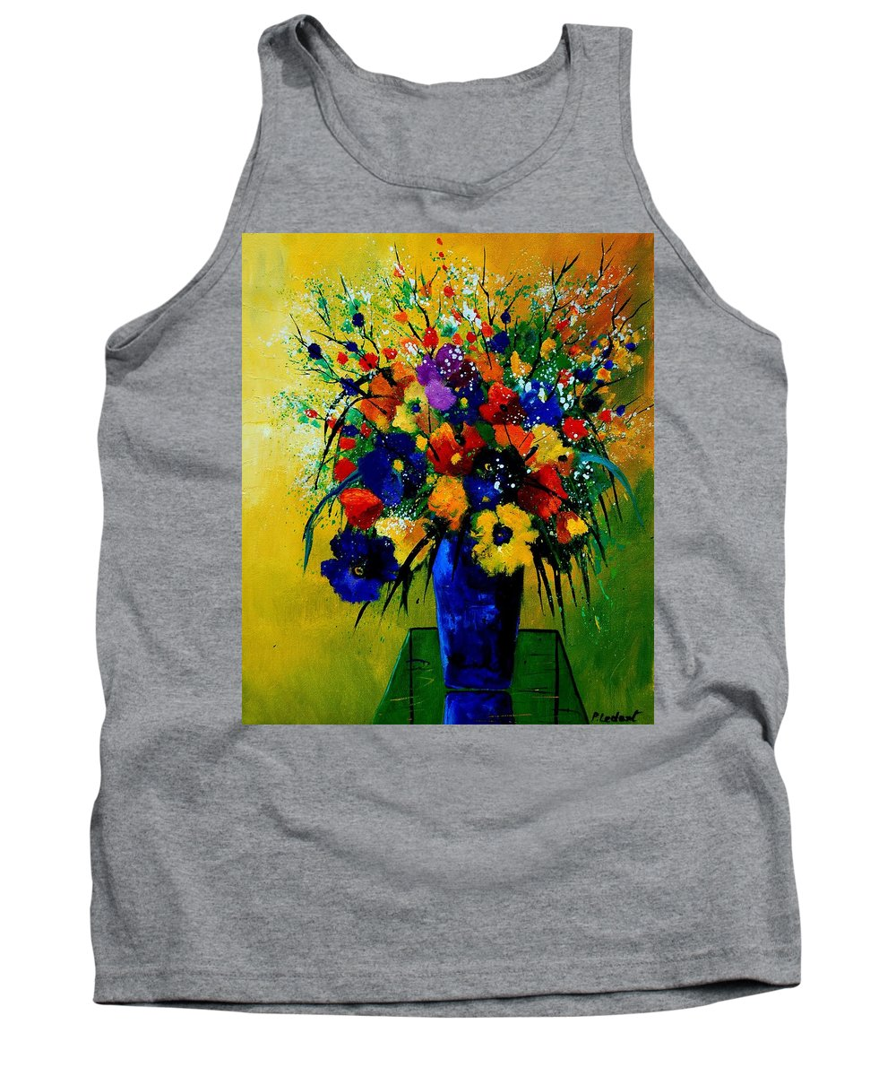 Poppies Tank Top featuring the painting Bunch 0508 by Pol Ledent