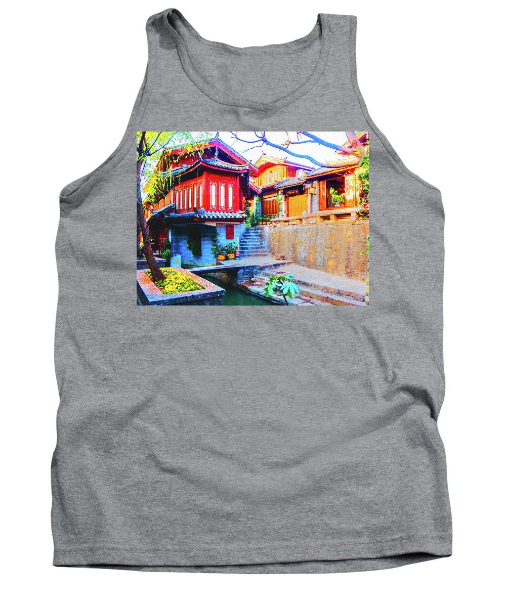 Bungalow Tank Top featuring the photograph Bungalow by Tom Lee