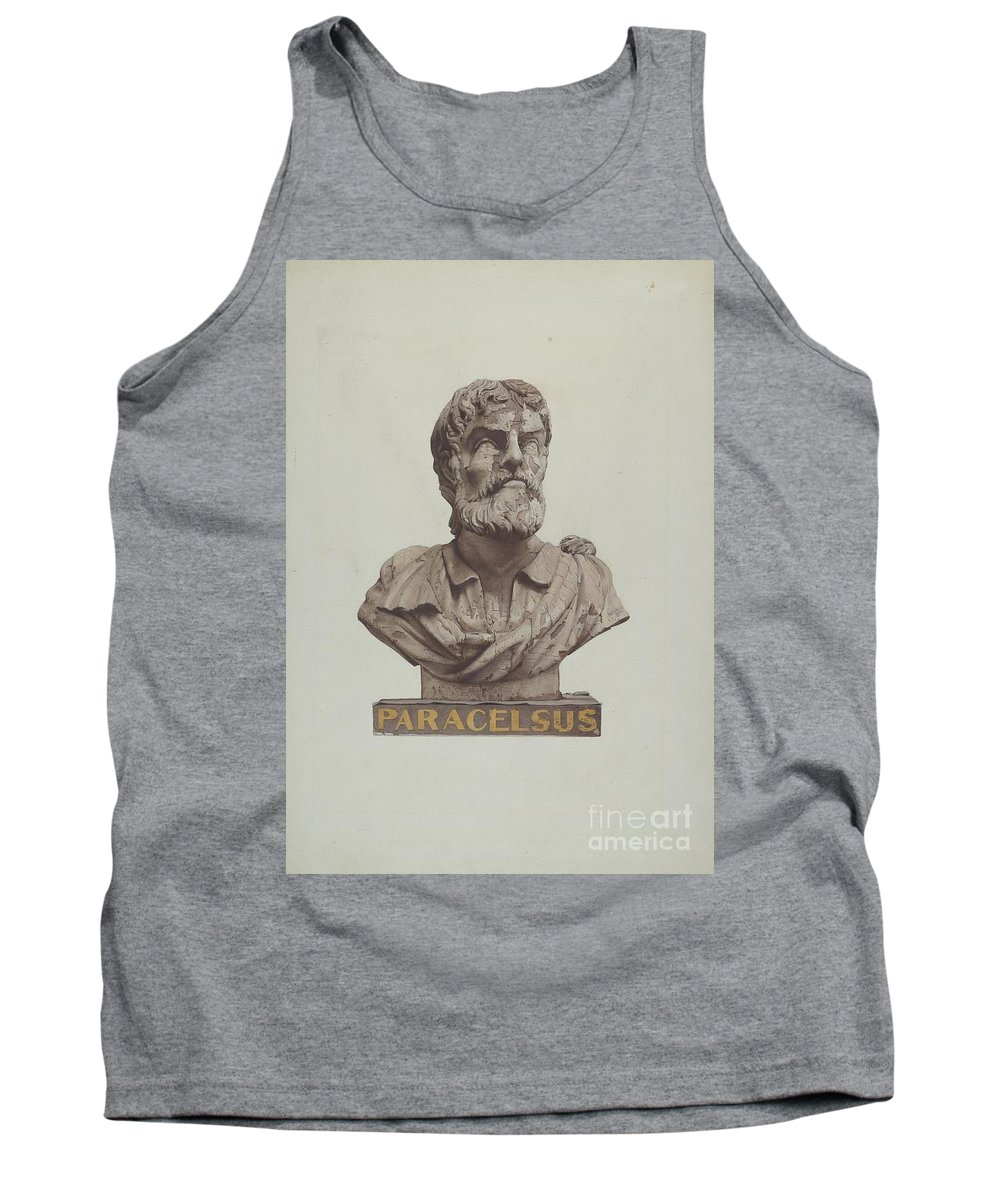 Tank Top featuring the drawing Bust Of Paracelsus by Joseph Goldberg