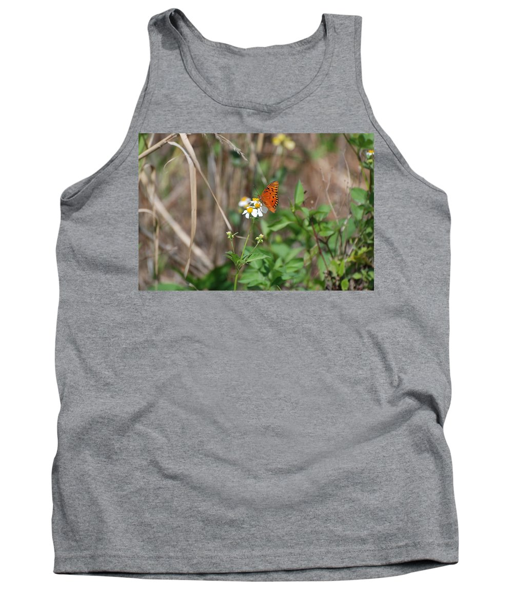 Butterfly Tank Top featuring the photograph Butterfly Flower by Rob Hans