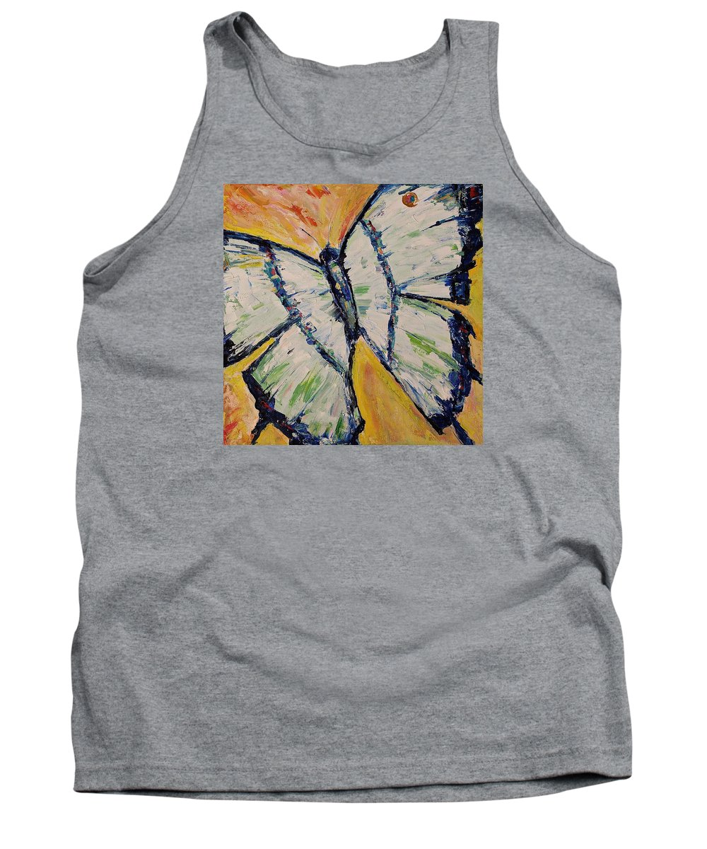 Impressionism Tank Top featuring the painting Butterfly II by Jo Gerrior