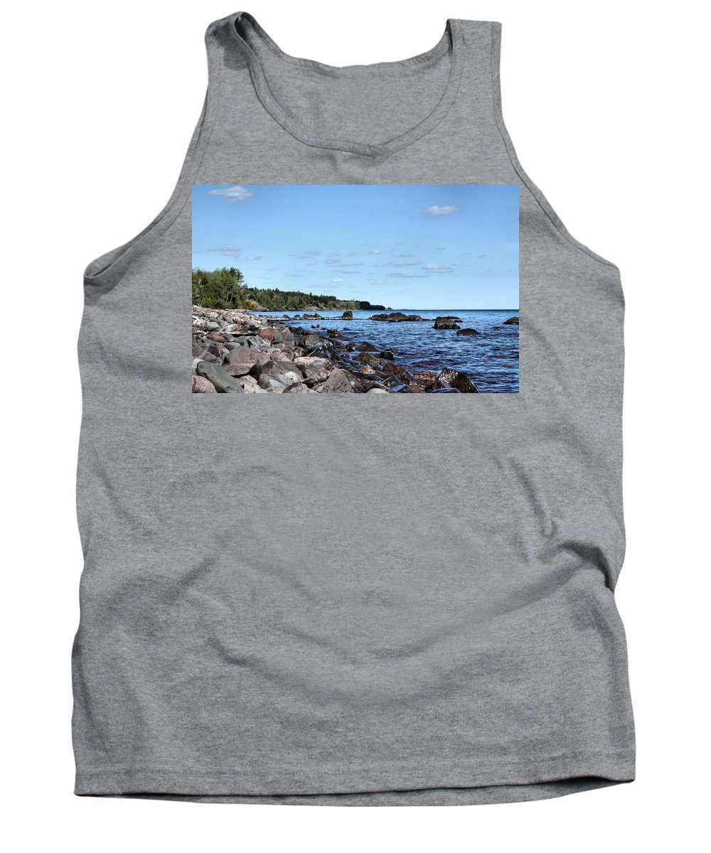 Lake Superior Tank Top featuring the photograph By The Shining Big Sea Water by Kristin Elmquist