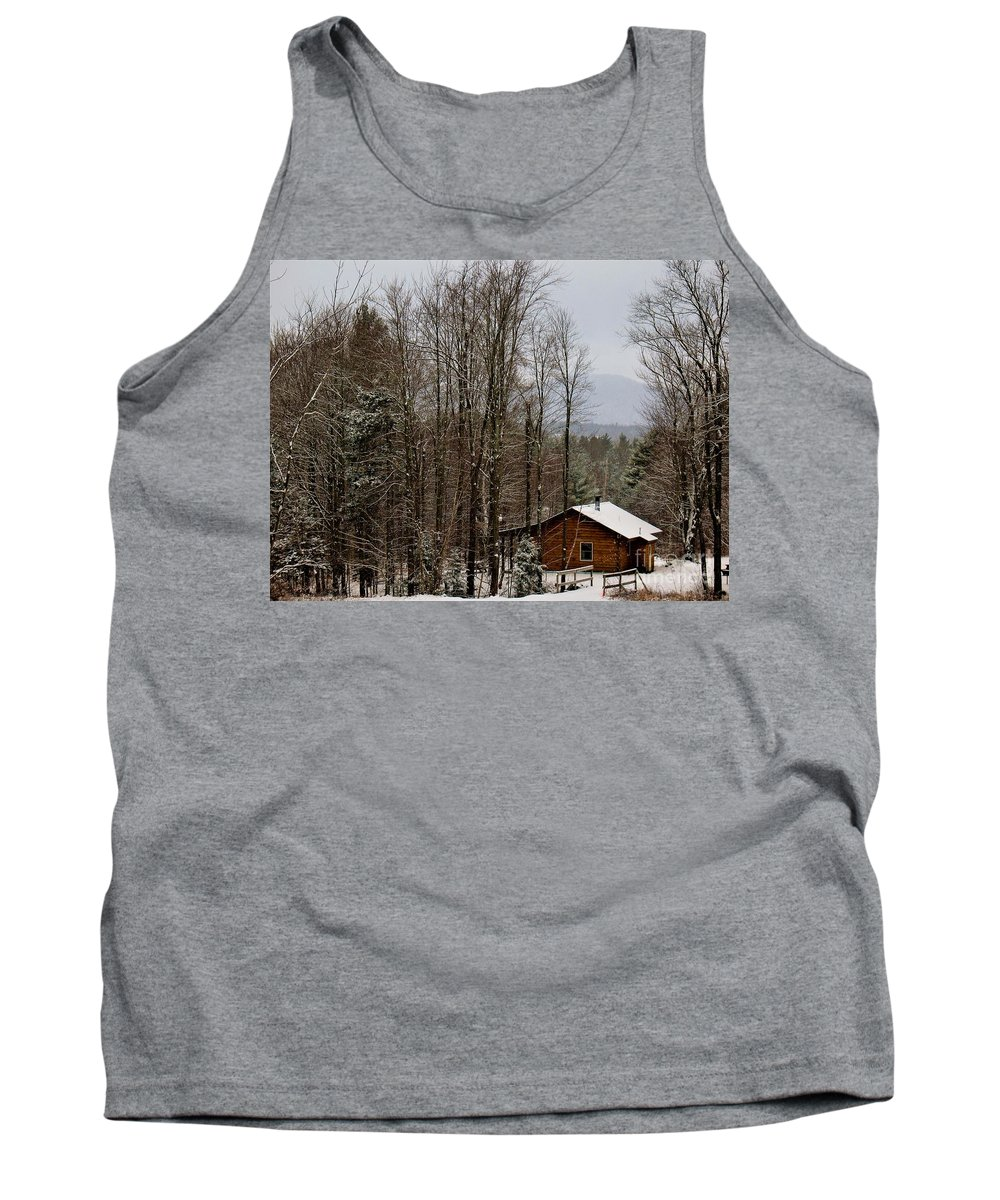 Cabin The Woods Tank Top featuring the photograph Cabin In The Woods by Patti Whitten