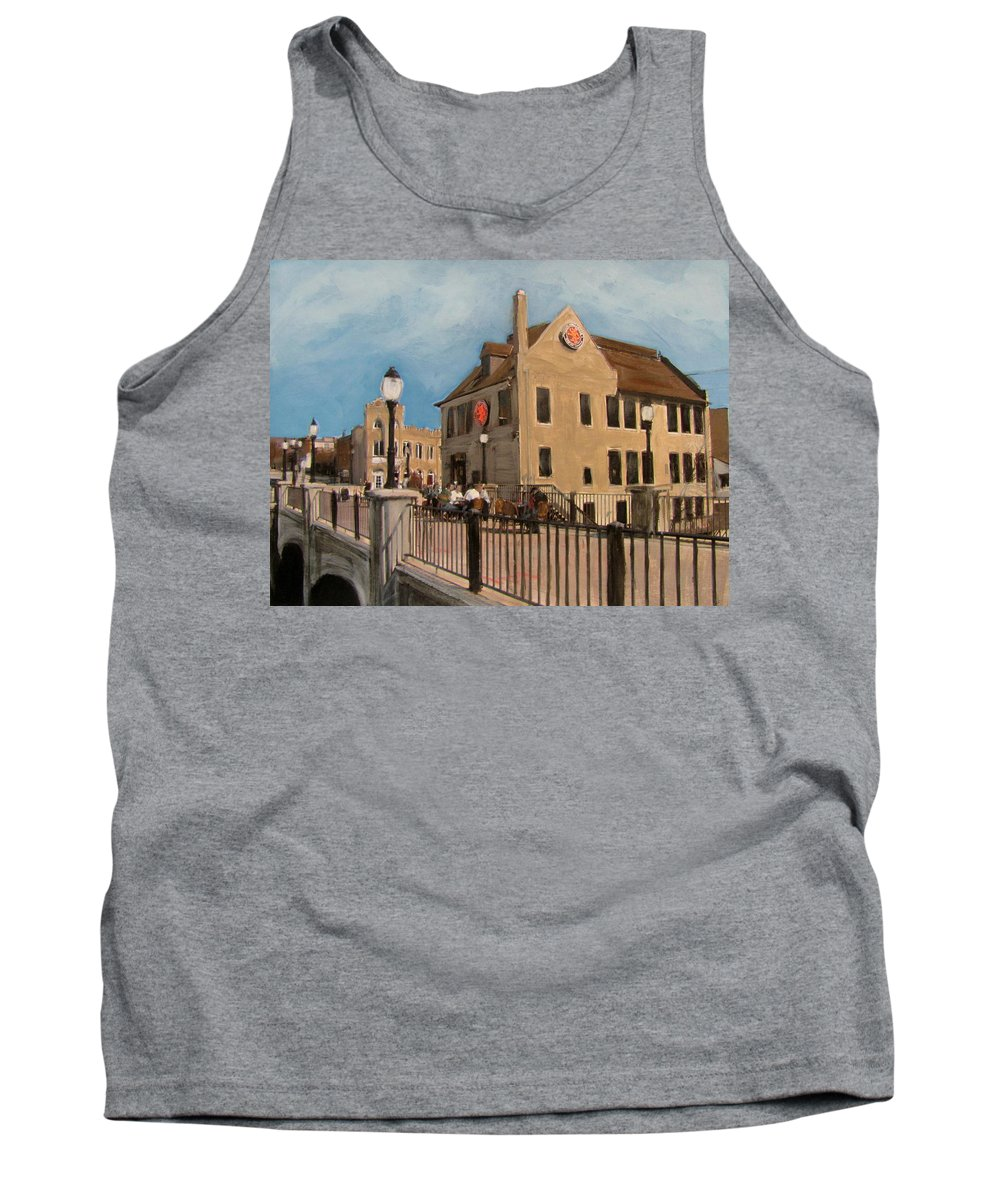 Milwaukee Tank Top featuring the mixed media Cafe Hollander 2 by Anita Burgermeister