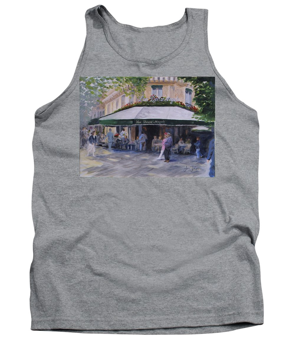 Cafe Magots Tank Top featuring the painting Cafe Magots by Jay Johnson