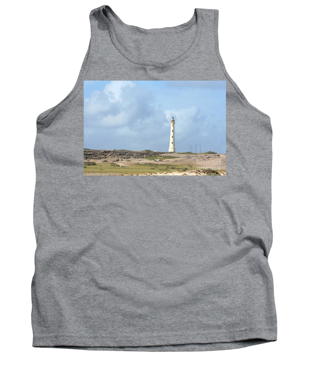 Aruba Tank Top featuring the photograph California Lighthouse by Thomas Marchessault