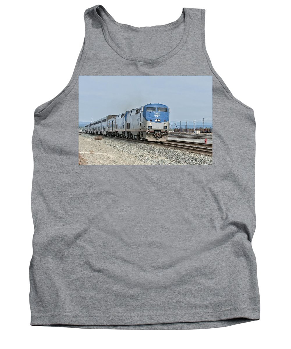 Amtrak Tank Top featuring the photograph California Zypher by Jim Thompson