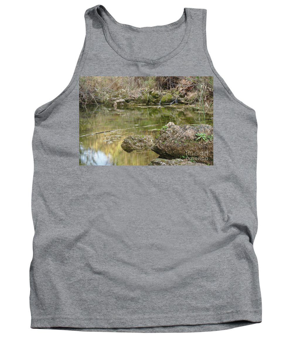Tranquil Tank Top featuring the photograph Calm Waters Scenery by Angelo DeVal