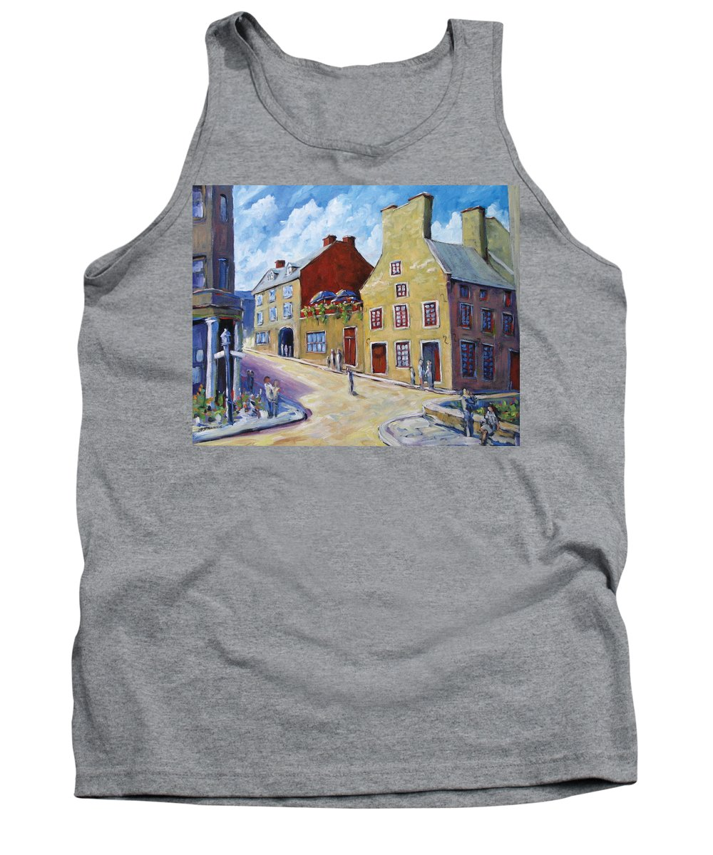 Rural Tank Top featuring the painting Calvet House Old Montreal by Richard T Pranke