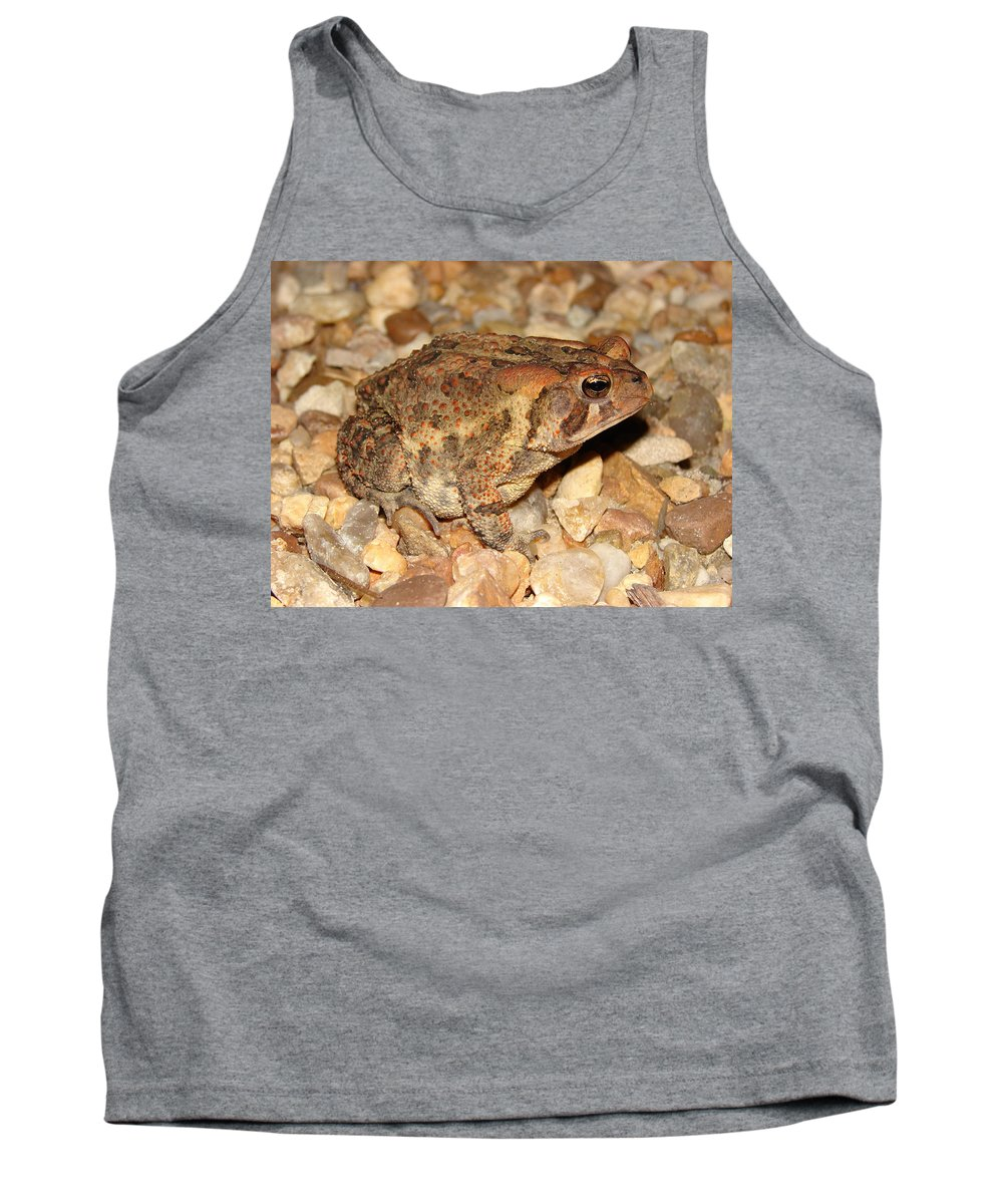 Camouflage Tank Top featuring the photograph Camouflage Toad by Brett Winn