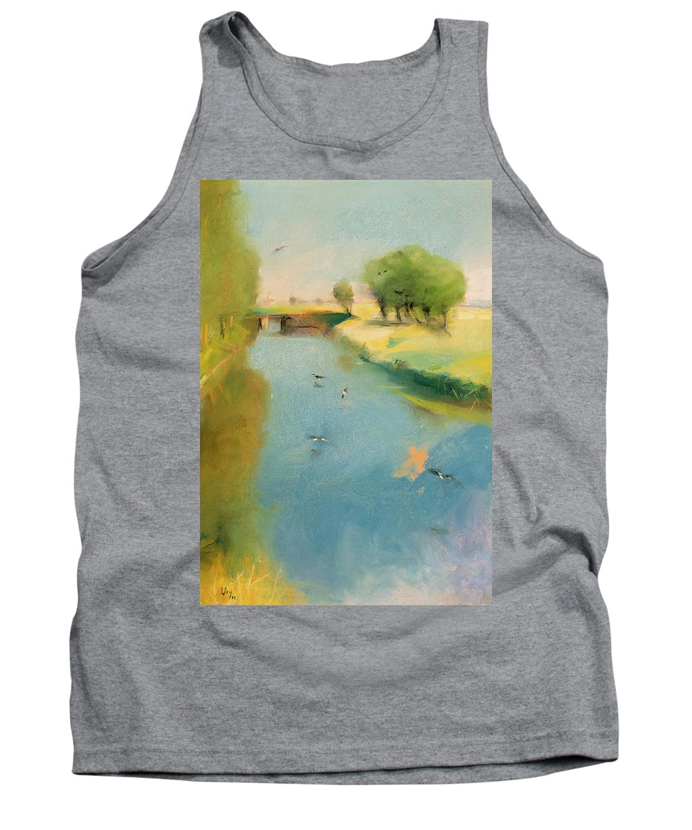 Canal Tank Top featuring the pastel Canal by Lesser Ury