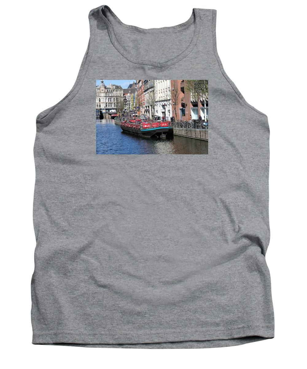 Landscape Tank Top featuring the photograph Canal Lunch by Sandra Bourret