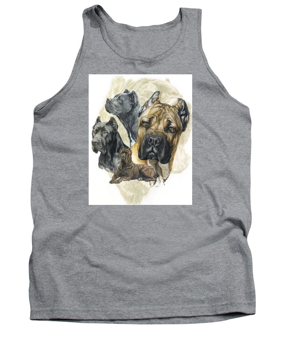 Working Tank Top featuring the mixed media Cane Corso W/ghost by Barbara Keith