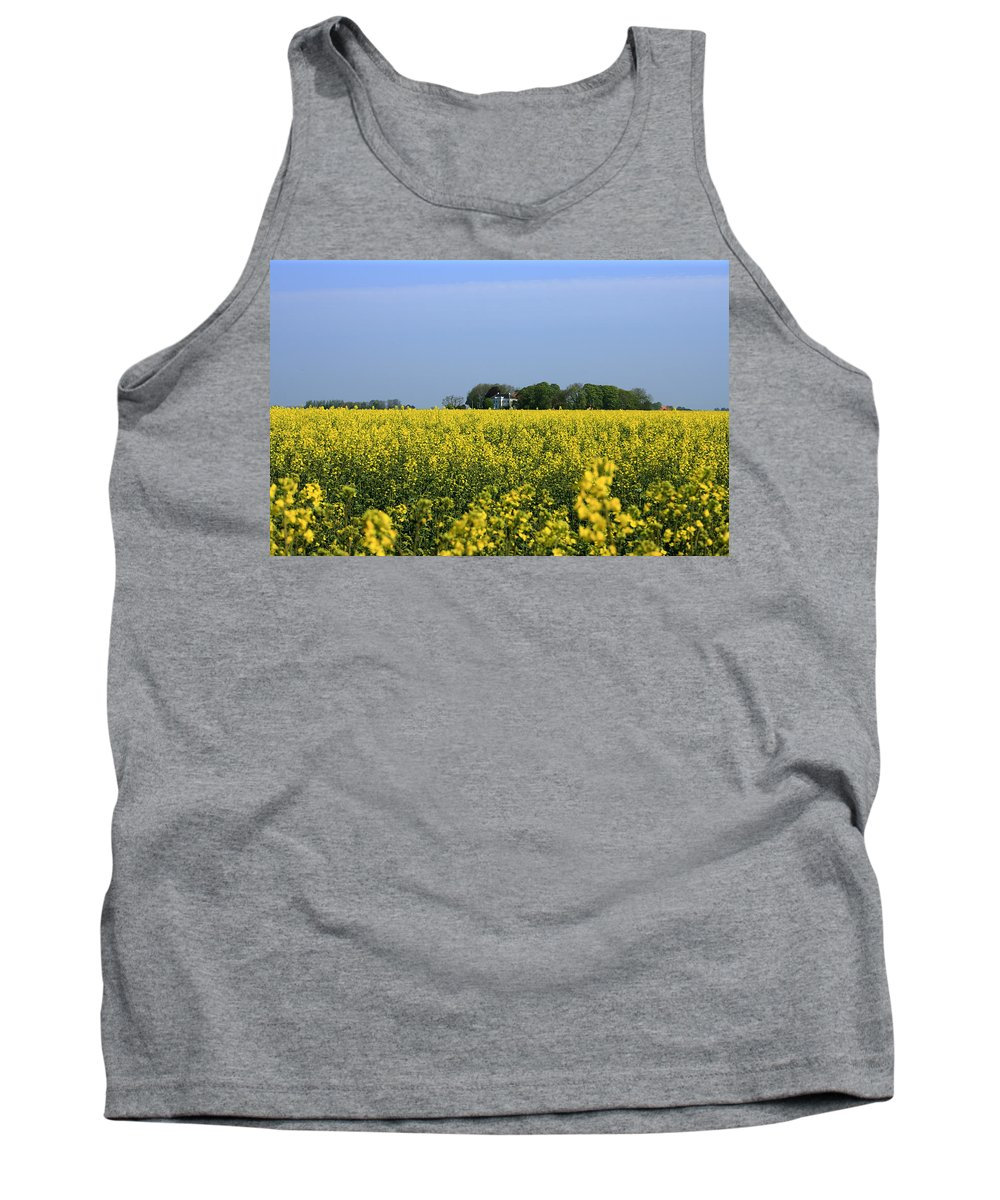 Canola Tank Top featuring the pyrography Canola Field by Steve K