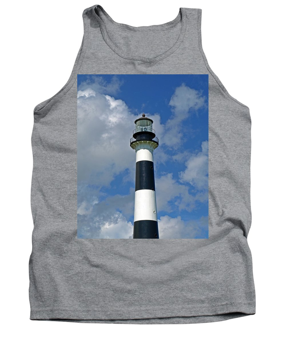 Lighthouse; Light; Canaveral; Cape; Cape Canaveral; Ccafs; Florida; East; Coast; Kennedy; Space; Cen Tank Top featuring the photograph Canveral Light Florida by Allan Hughes