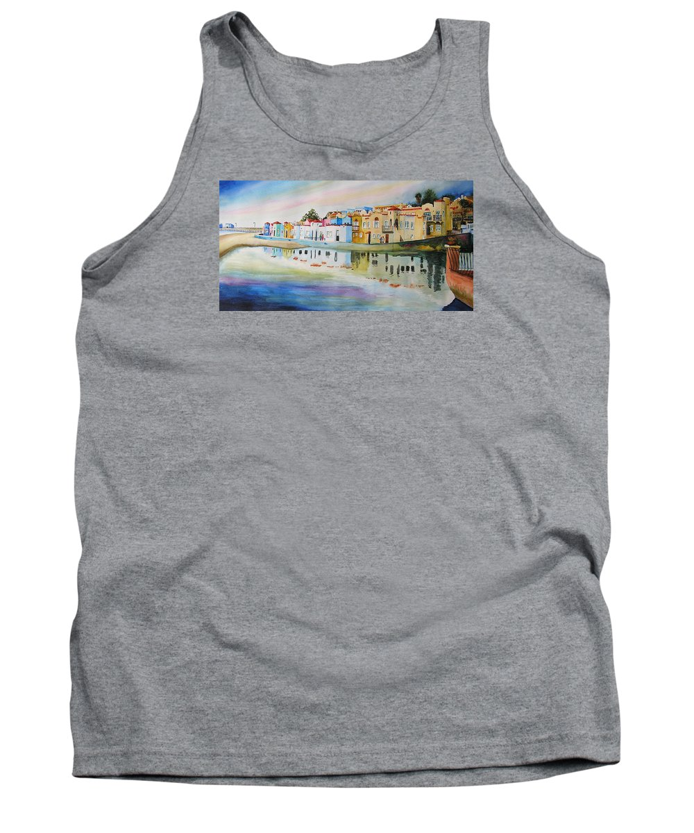 Capitola Tank Top featuring the painting Capitola by Karen Stark