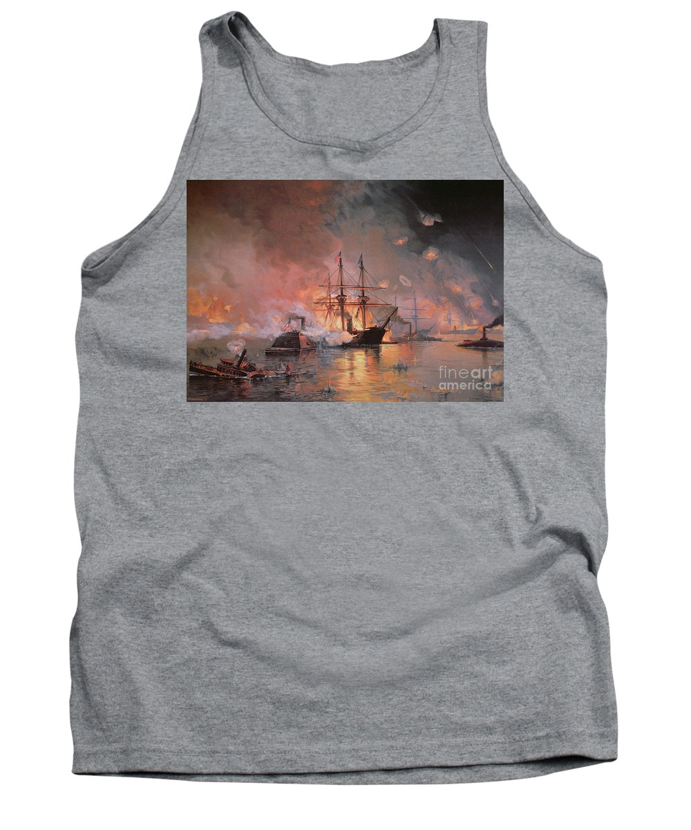 Capture Of New Orleans By Union Flag Officer David G. Farragut Tank Top featuring the painting Capture Of New Orleans By Union Flag Officer David G Farragut by Julian Oliver Davidson