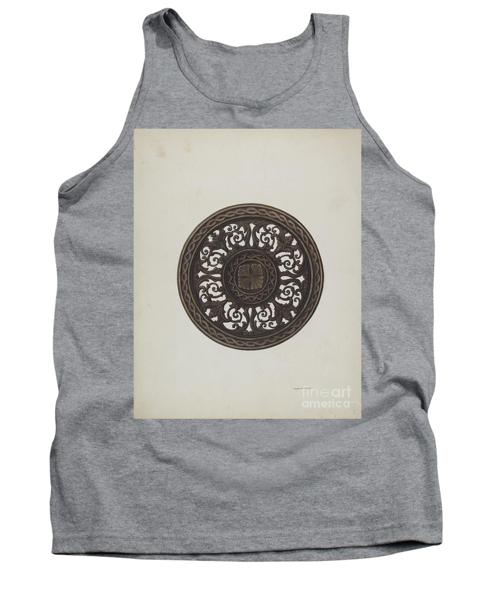 Tank Top featuring the drawing Card Tray by Robert W.r. Taylor