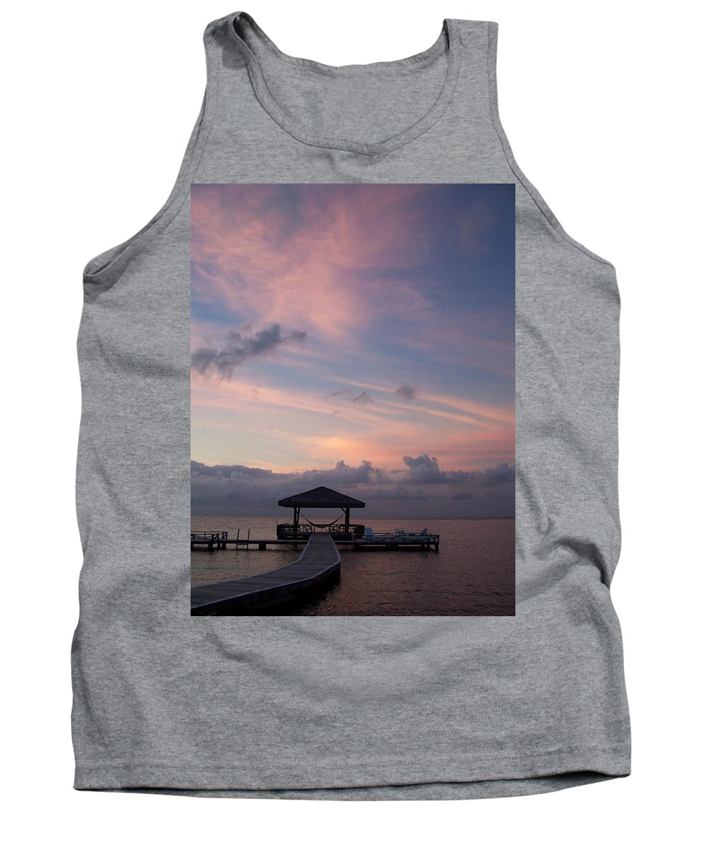 Ocean Tank Top featuring the photograph Caribbean Sunrise by Gale Cochran-Smith
