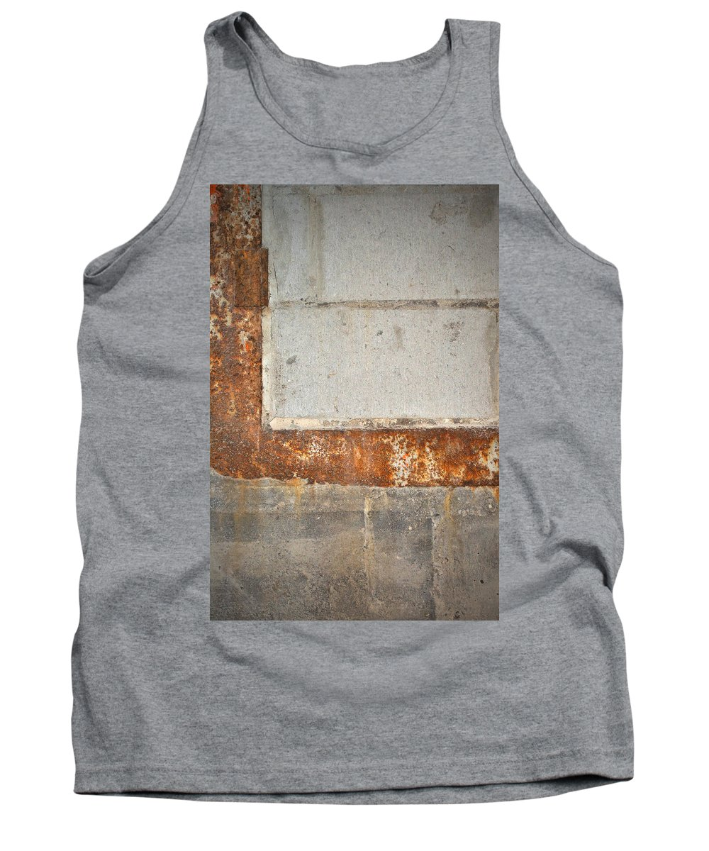 Architecture Tank Top featuring the photograph Carlton 14 - Abstract Concrete Wall by Tim Nyberg