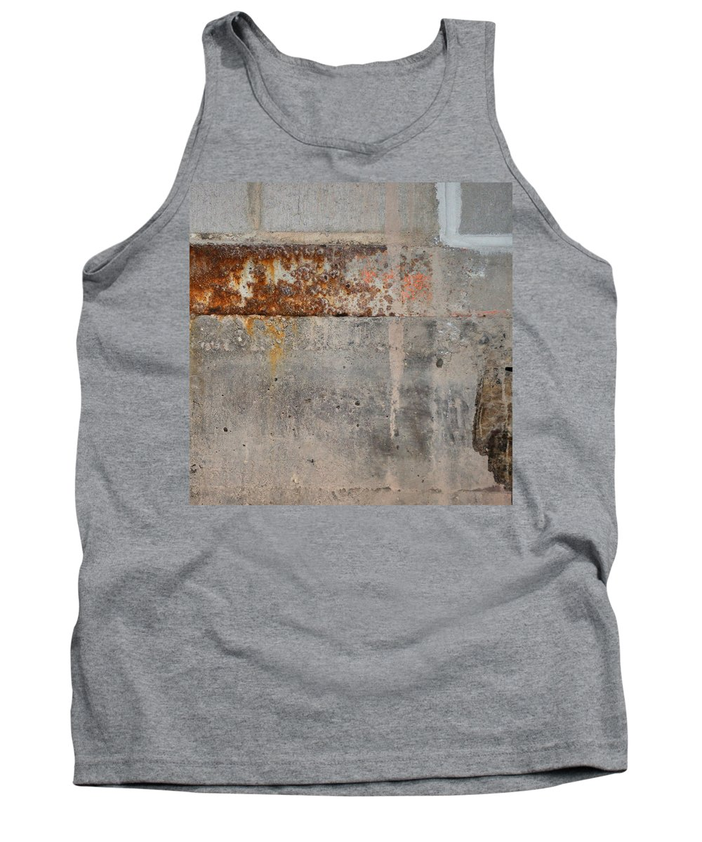 Concrete Tank Top featuring the photograph Carlton 16 Concrete Mortar And Rust by Tim Nyberg