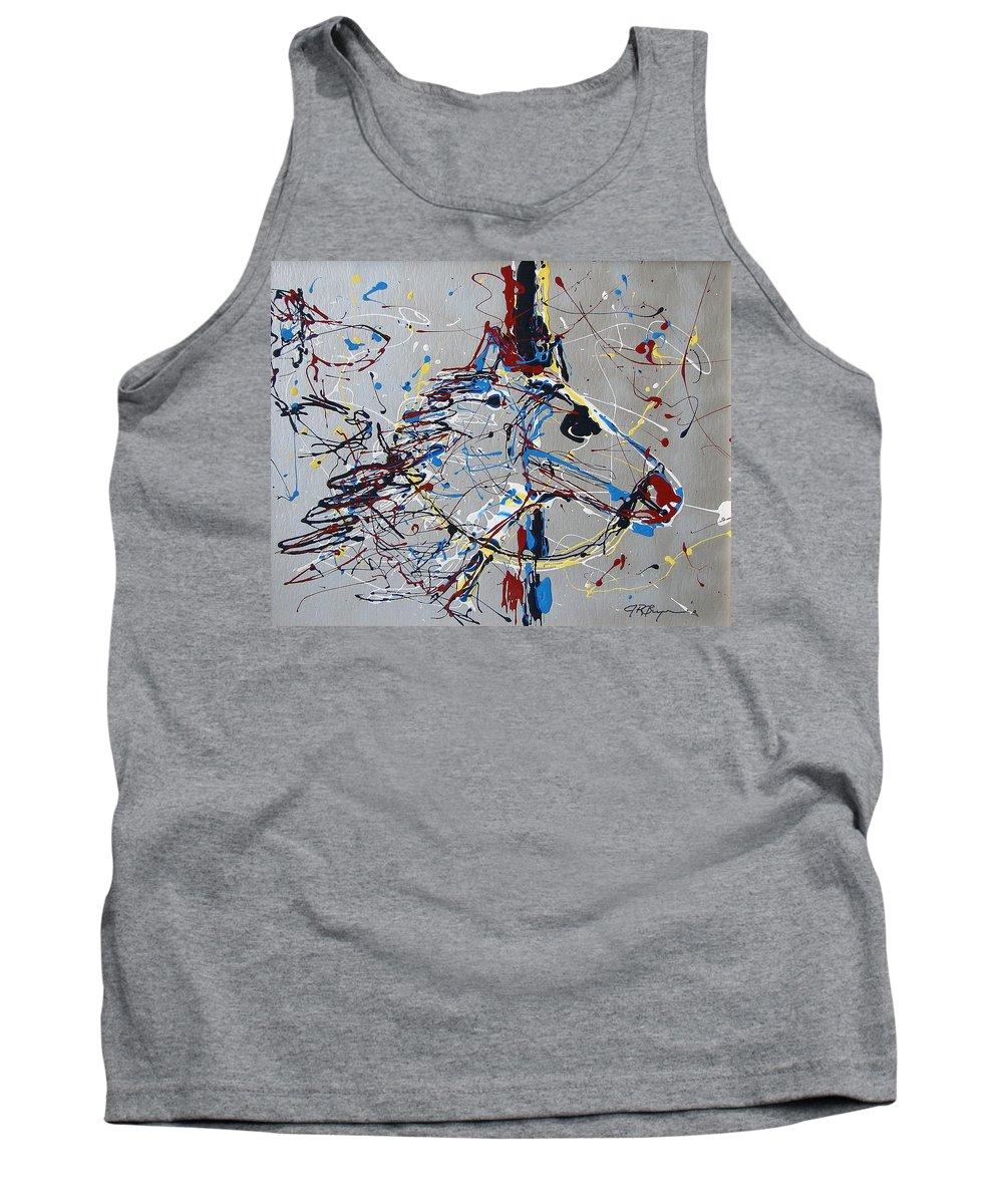 Carousel Horse Tank Top featuring the mixed media Carousel Horse by J R Seymour