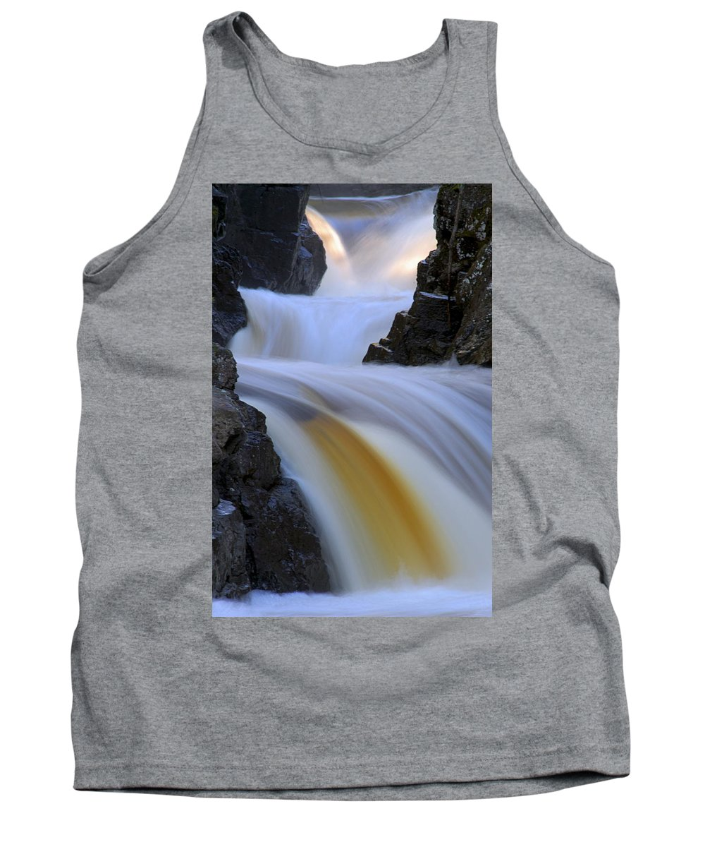 Cascade River State Park Tank Top featuring the photograph Cascade At Dawn by Larry Ricker
