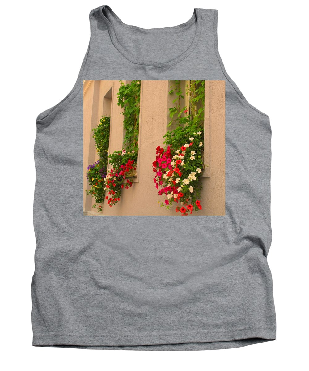 Flowers Tank Top featuring the photograph Cascading Windows by Ian MacDonald