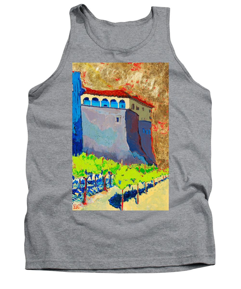 Castle Tank Top featuring the painting Castello Di Villafranca by Kurt Hausmann