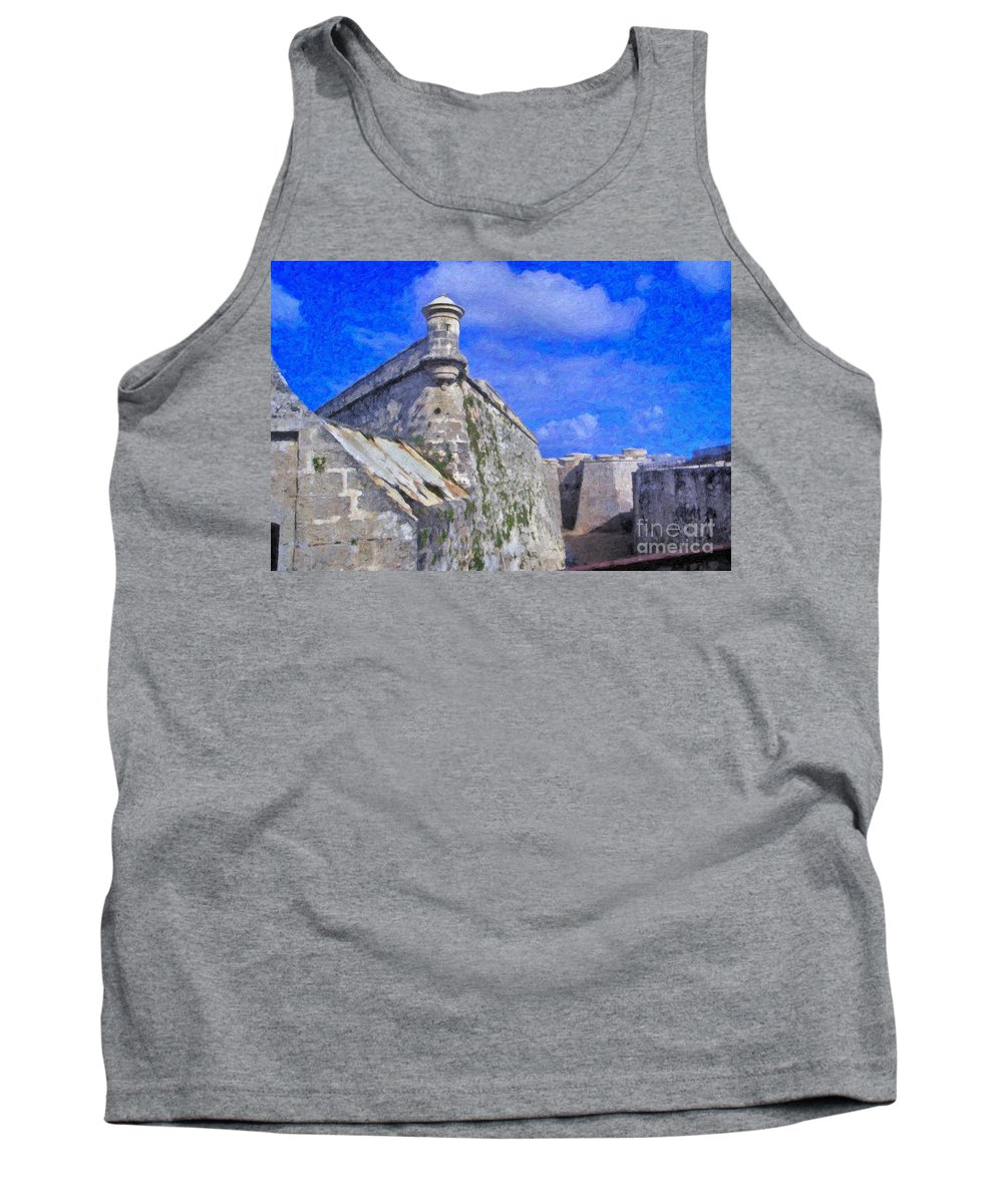 Castillo El Morro- Havana Tank Top featuring the photograph Castillo El Morro Havana Cuba by David Zanzinger