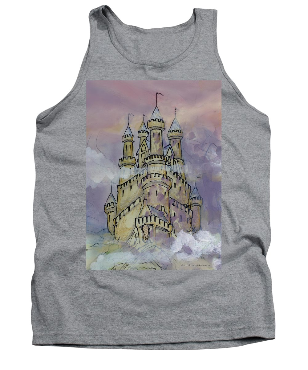Castle Tank Top featuring the greeting card Castle by Kevin Middleton