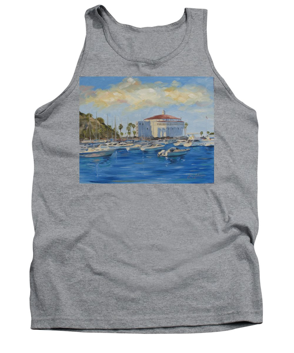 California Tank Top featuring the painting Catallina Casino by Jay Johnson