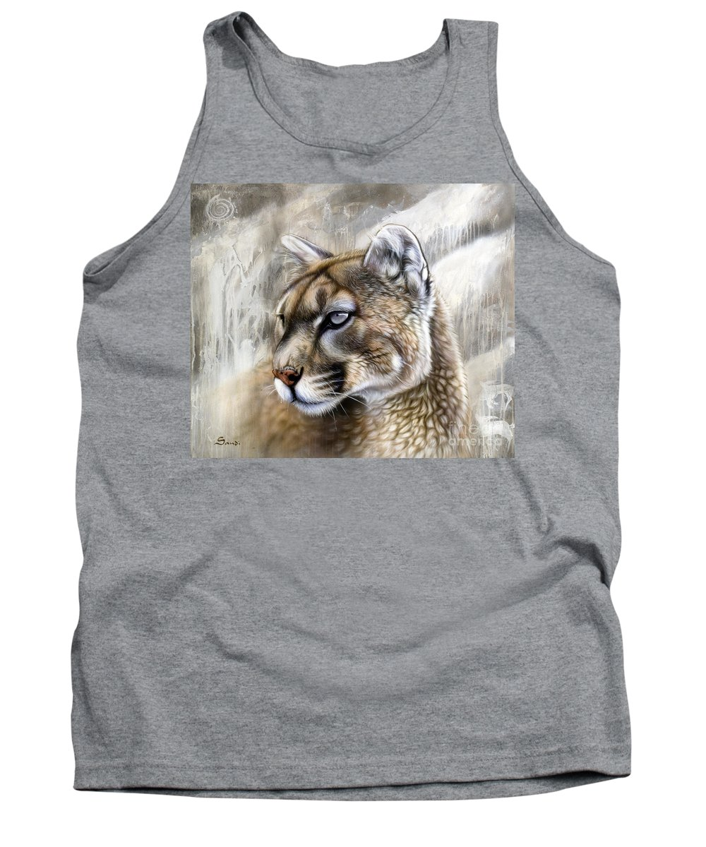 Acrylic Tank Top featuring the painting Catamount by Sandi Baker