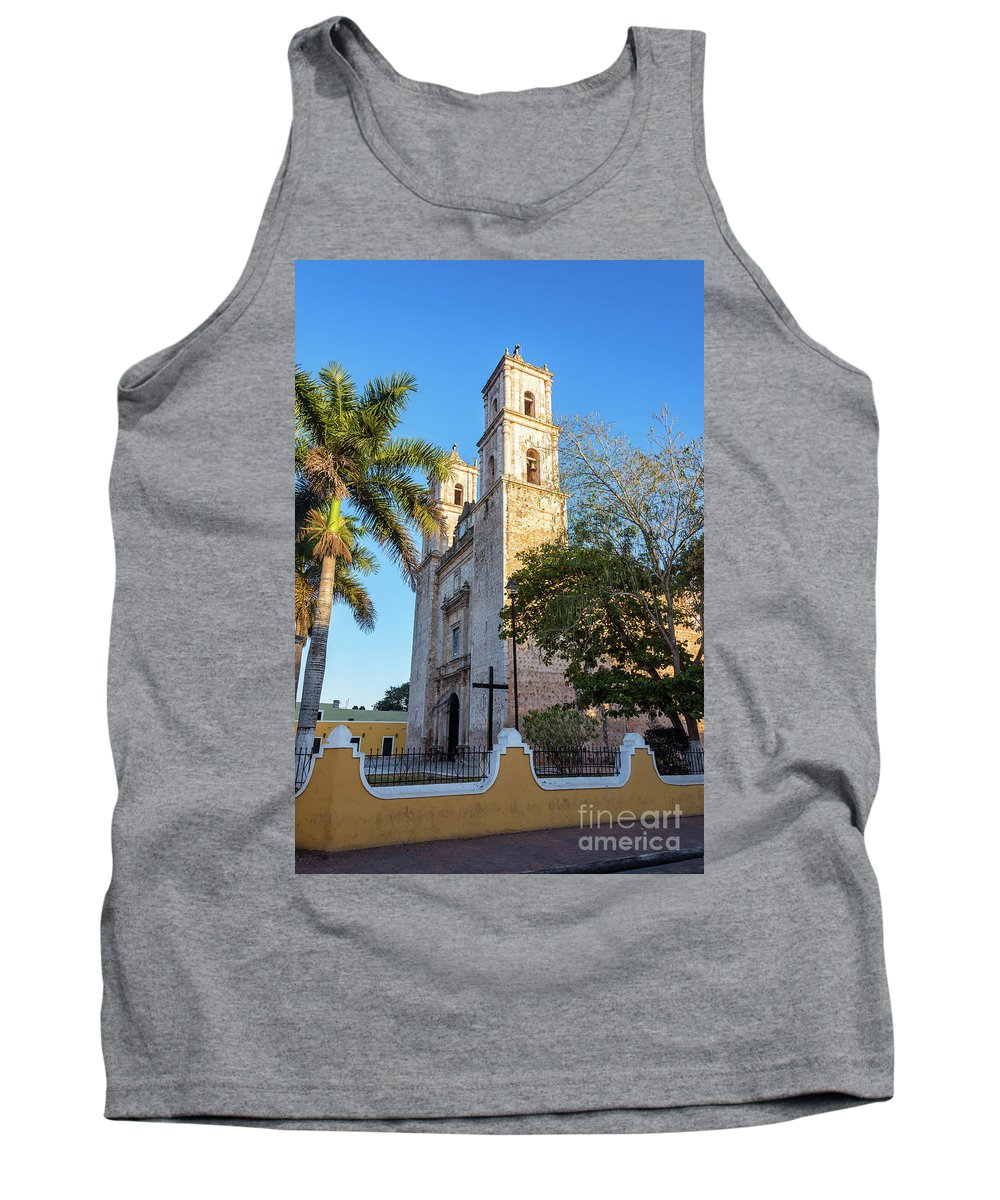 Mexico Tank Top featuring the photograph Cathedral In Valladolid by Jess Kraft