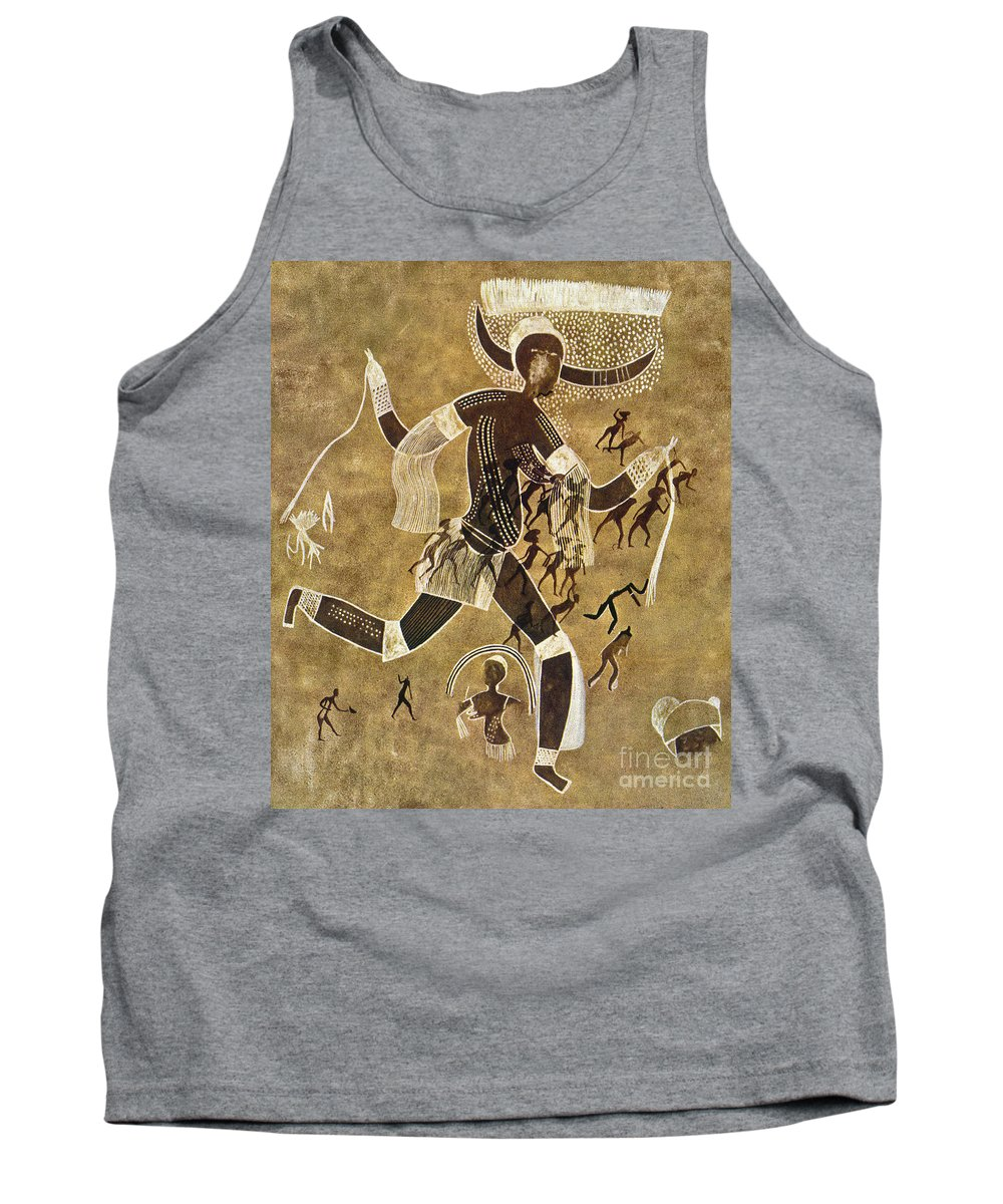 African Tank Top featuring the photograph Cave Art by Granger
