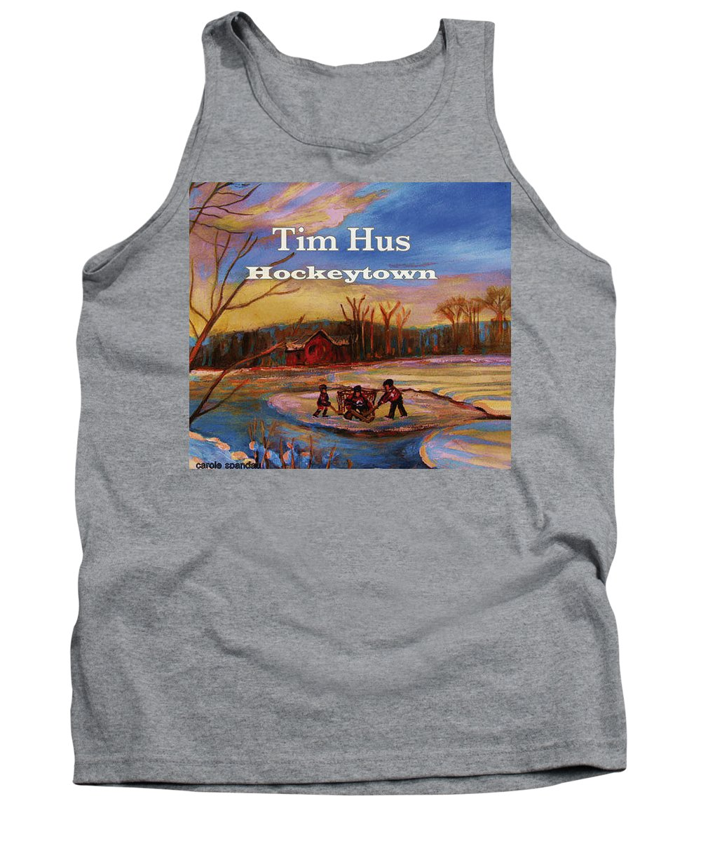 Tim Hus Hockey Town Tank Top featuring the painting Cd Cover Commission Art by Carole Spandau