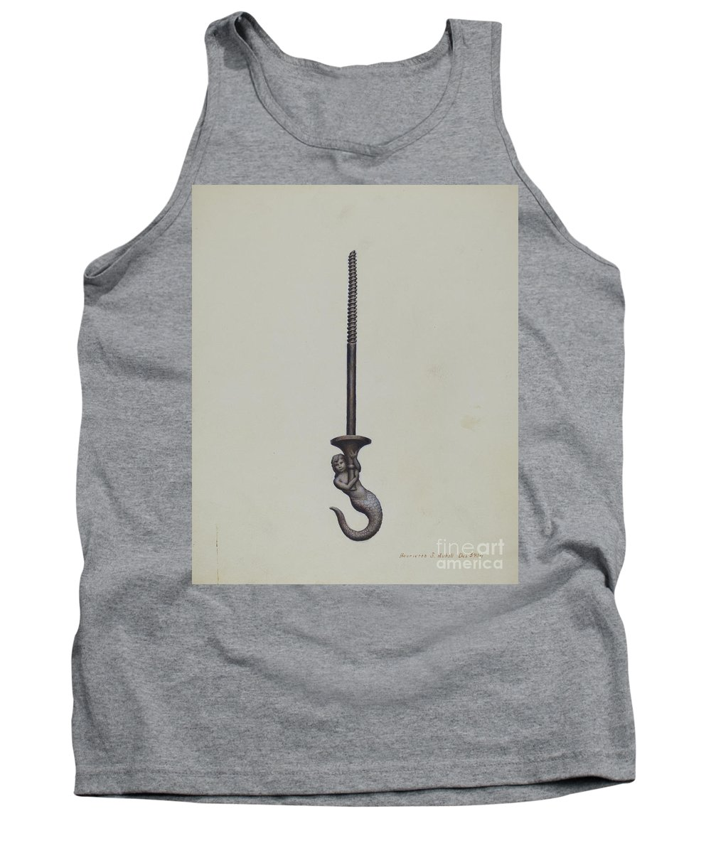 Tank Top featuring the drawing Ceiling Hook by Henrietta S. Hukill