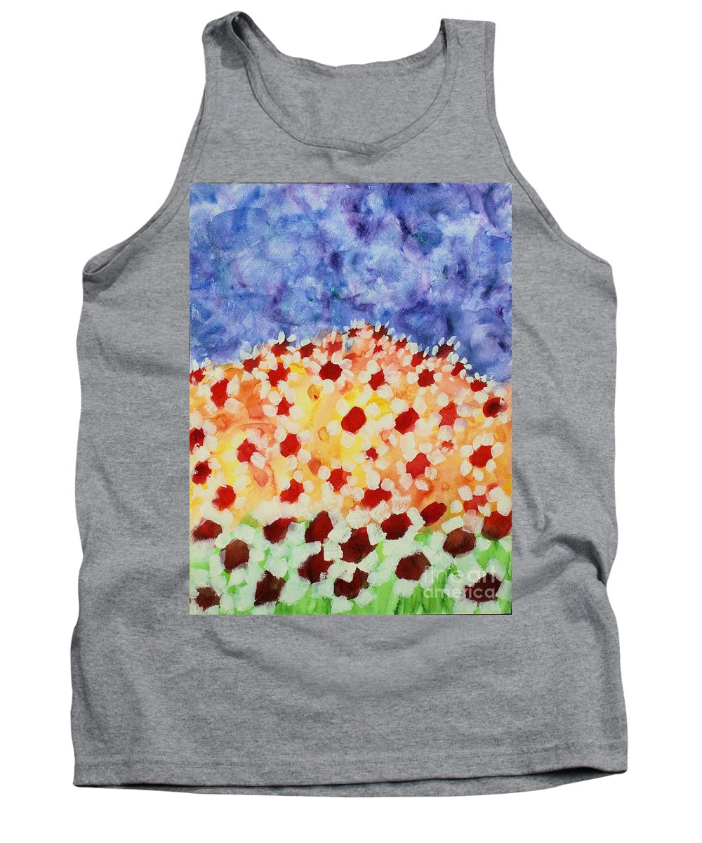 Daisies Tank Top featuring the painting Champs De Marguerites - 01 by Variance Collections