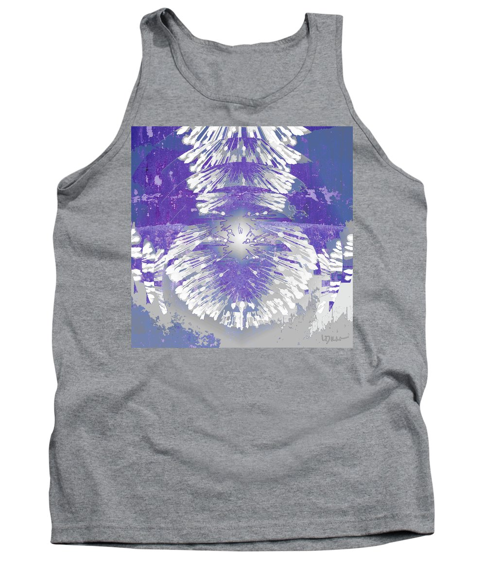 Abstract Tank Top featuring the digital art Chandelier 2 by Linda Dunn
