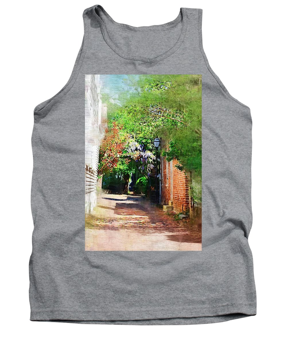 Alley Tank Top featuring the photograph Charlestons Alley by Donna Bentley