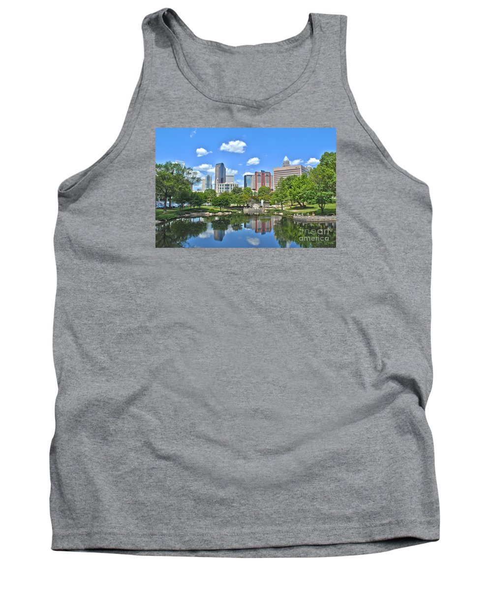 Charlotte Tank Top featuring the photograph Charlotte Skyline by Sarah Johnson