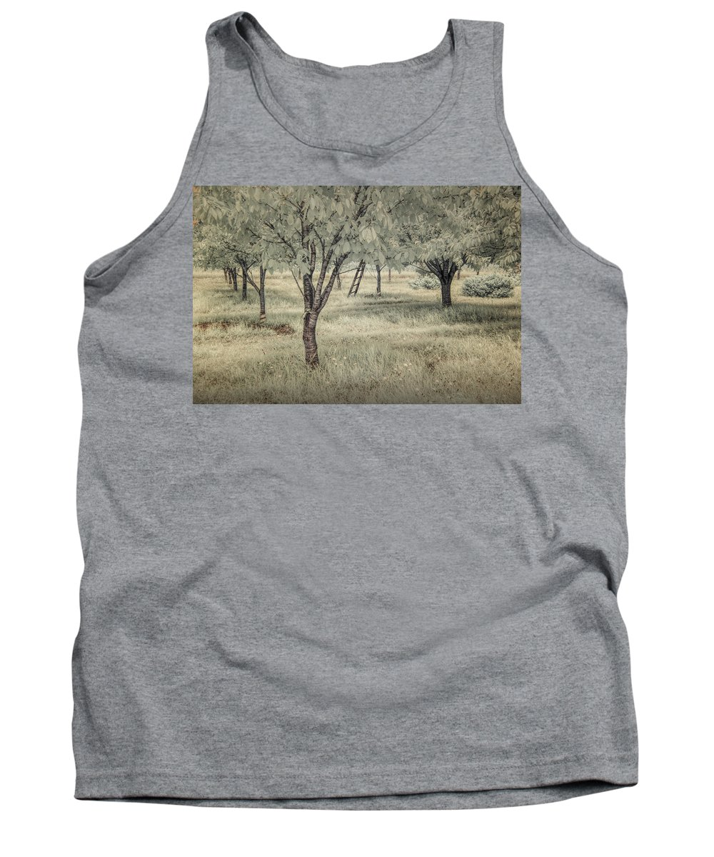 Orchard Tank Top featuring the photograph Cherry Orchard In Infrared by Randall Nyhof