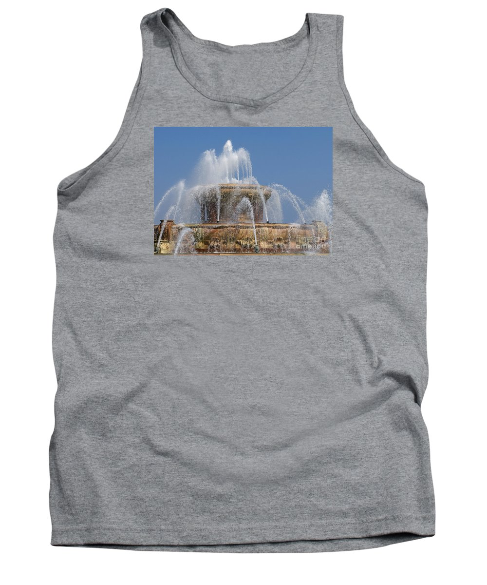 Chicagoland Tank Top featuring the photograph Chicago Splash by Ann Horn