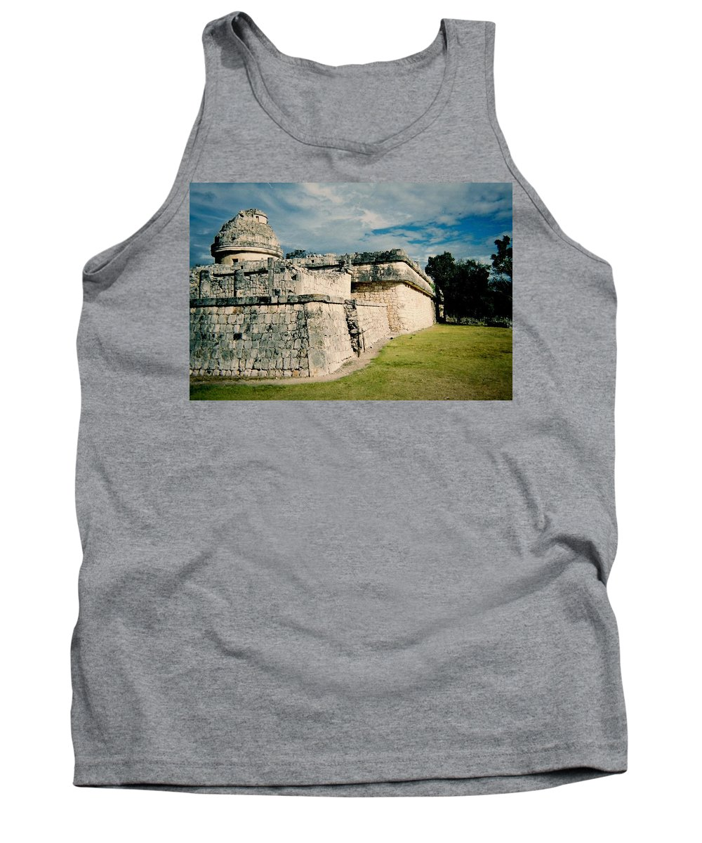 Chitchen Itza Tank Top featuring the photograph Chichen Itza 1 by Anita Burgermeister