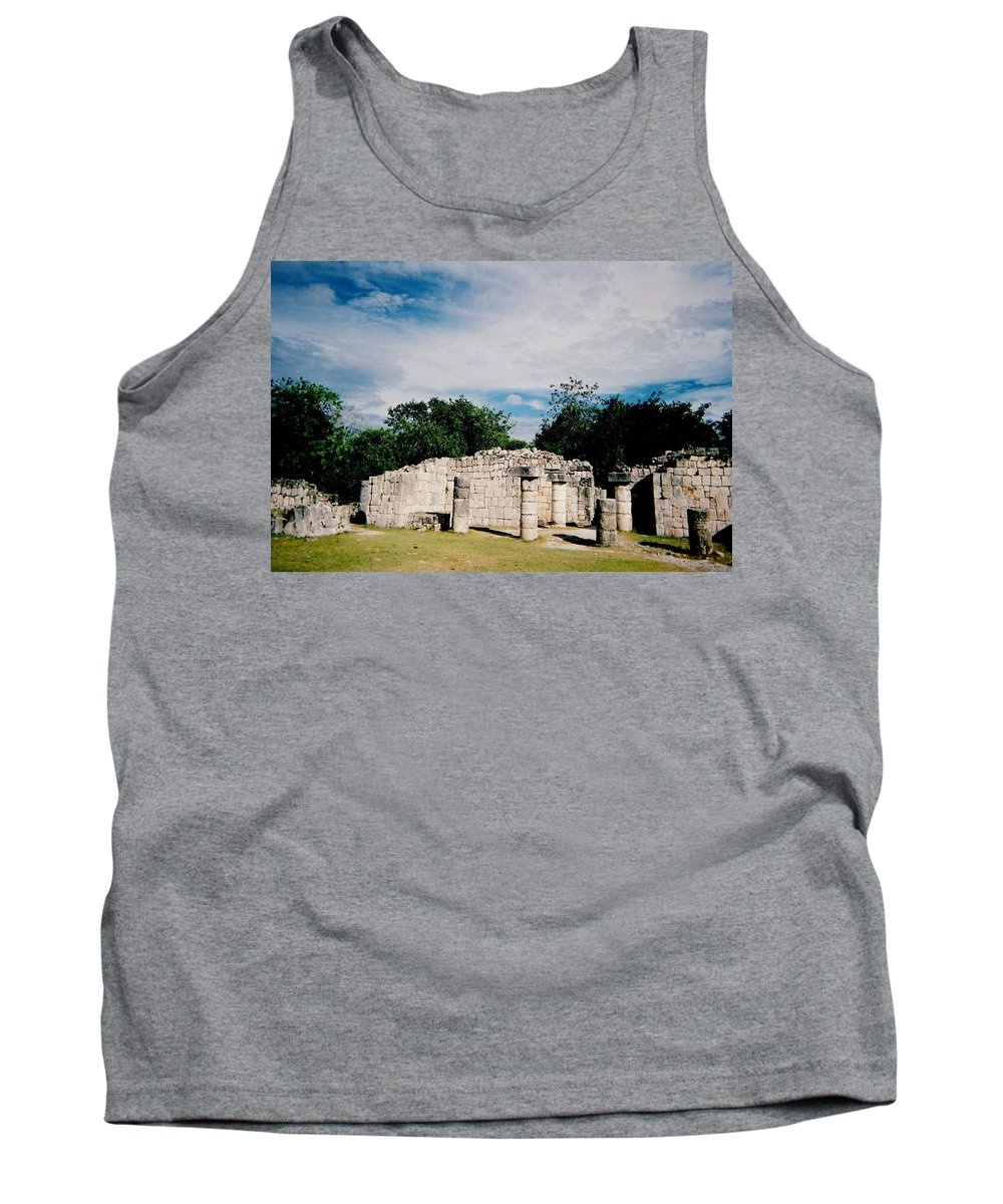 Chitchen Itza Tank Top featuring the photograph Chichen Itza 2 by Anita Burgermeister