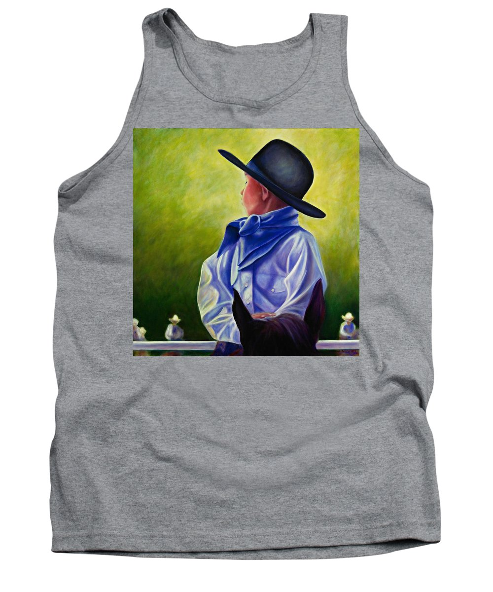 Child Tank Top featuring the painting Child by Shannon Grissom